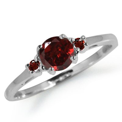 Single gemstone ring