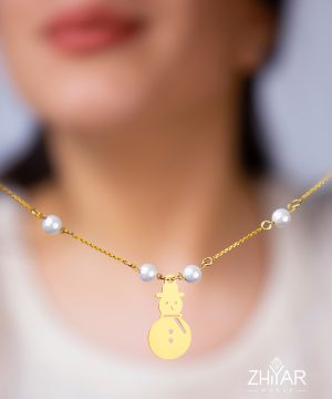 snow man necklace